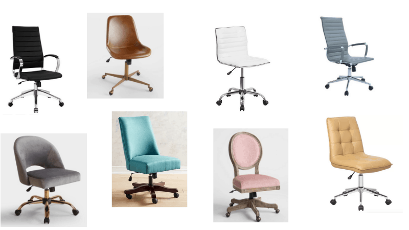 narrow office chairs