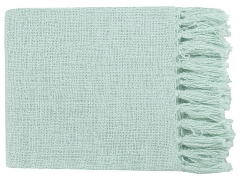 mint throw blanket