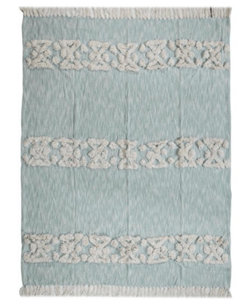 light blue throw blanket