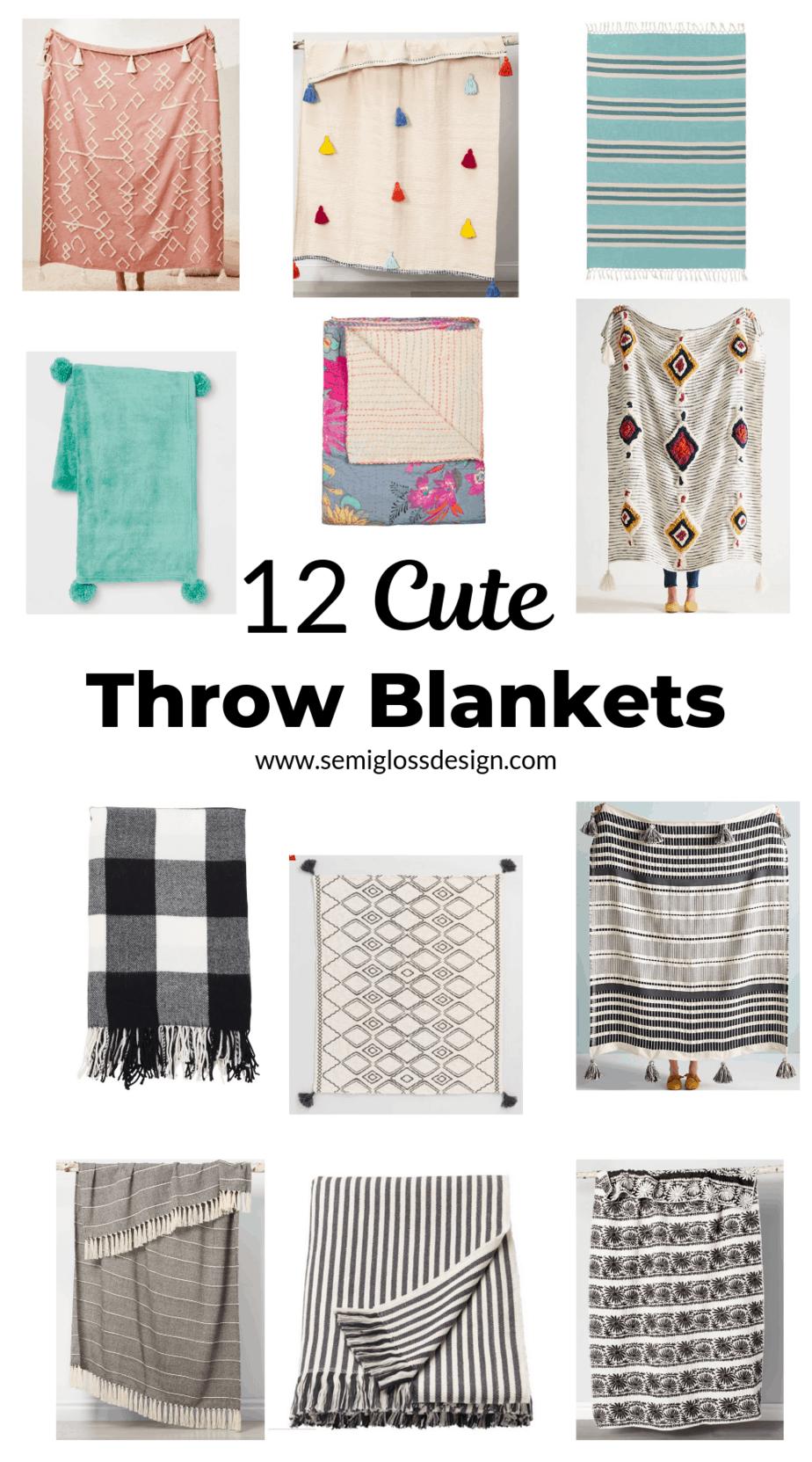 12 cute throw blankets