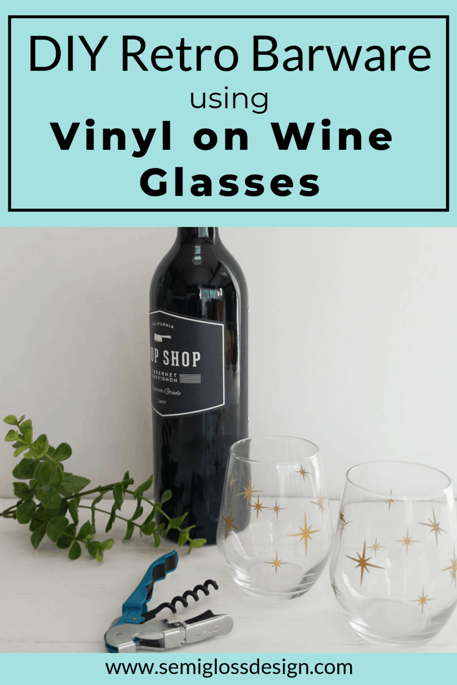 using vinyl on wine glasses