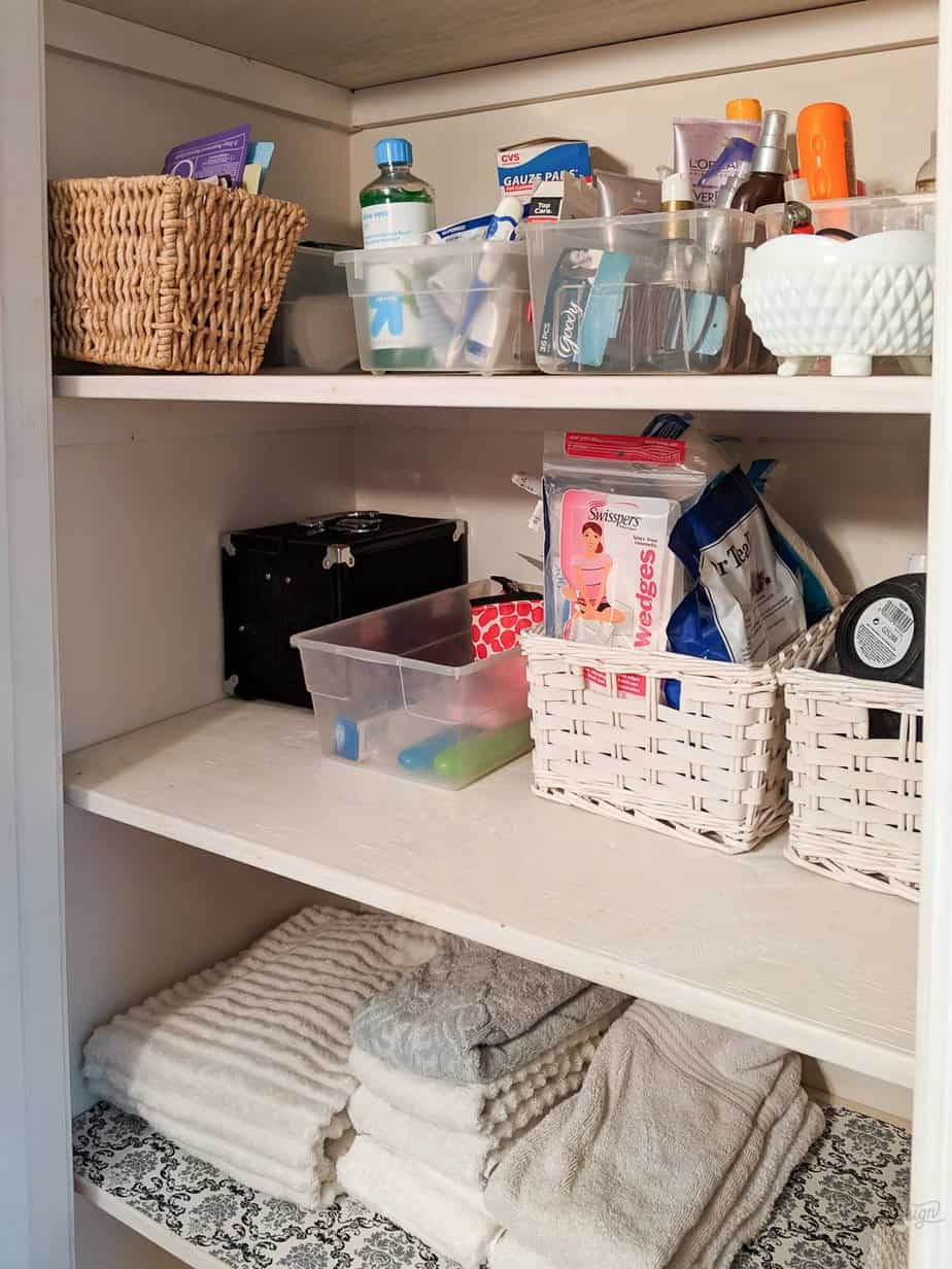 After photo of organized bathroom