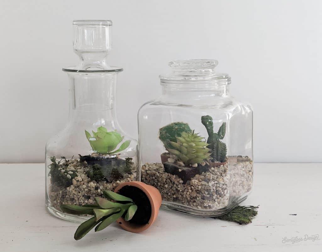 fake terrarium