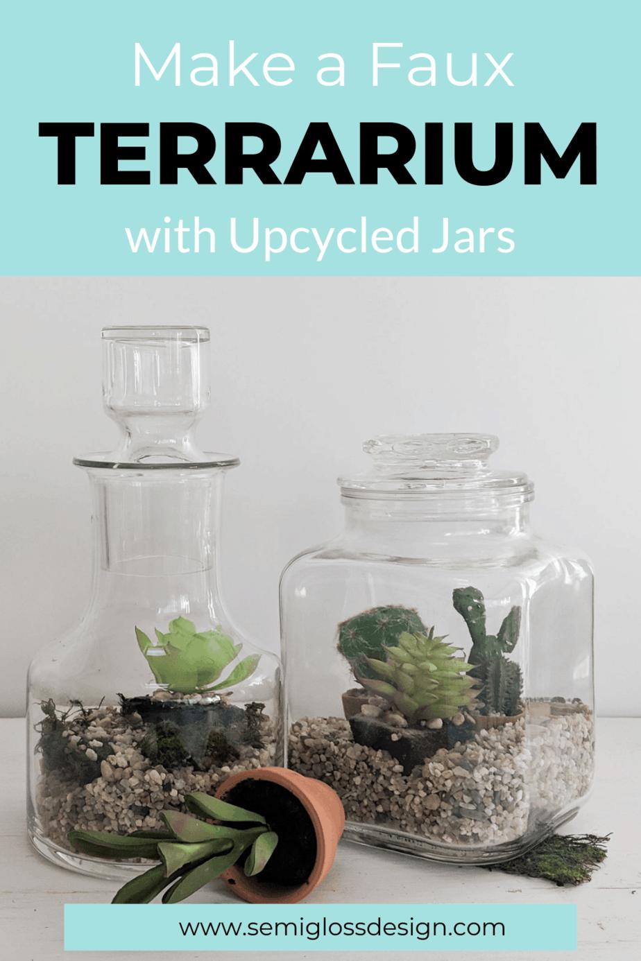 faux terrarium
