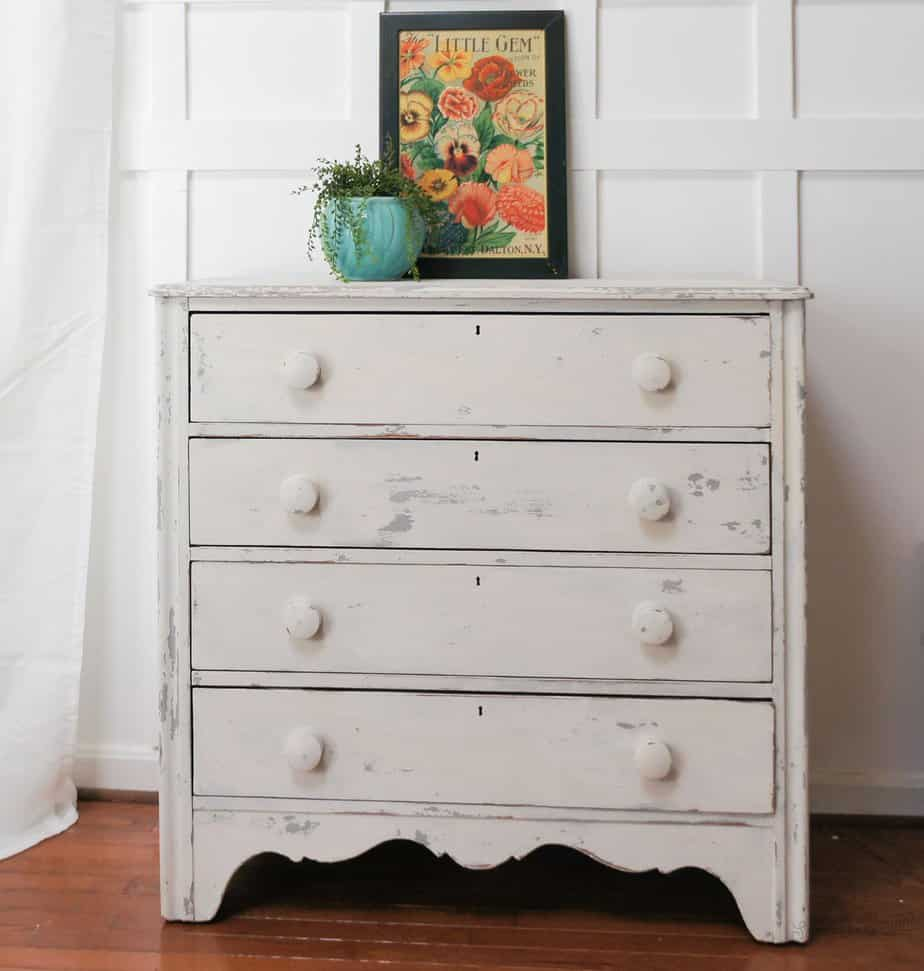 milk painted dresser