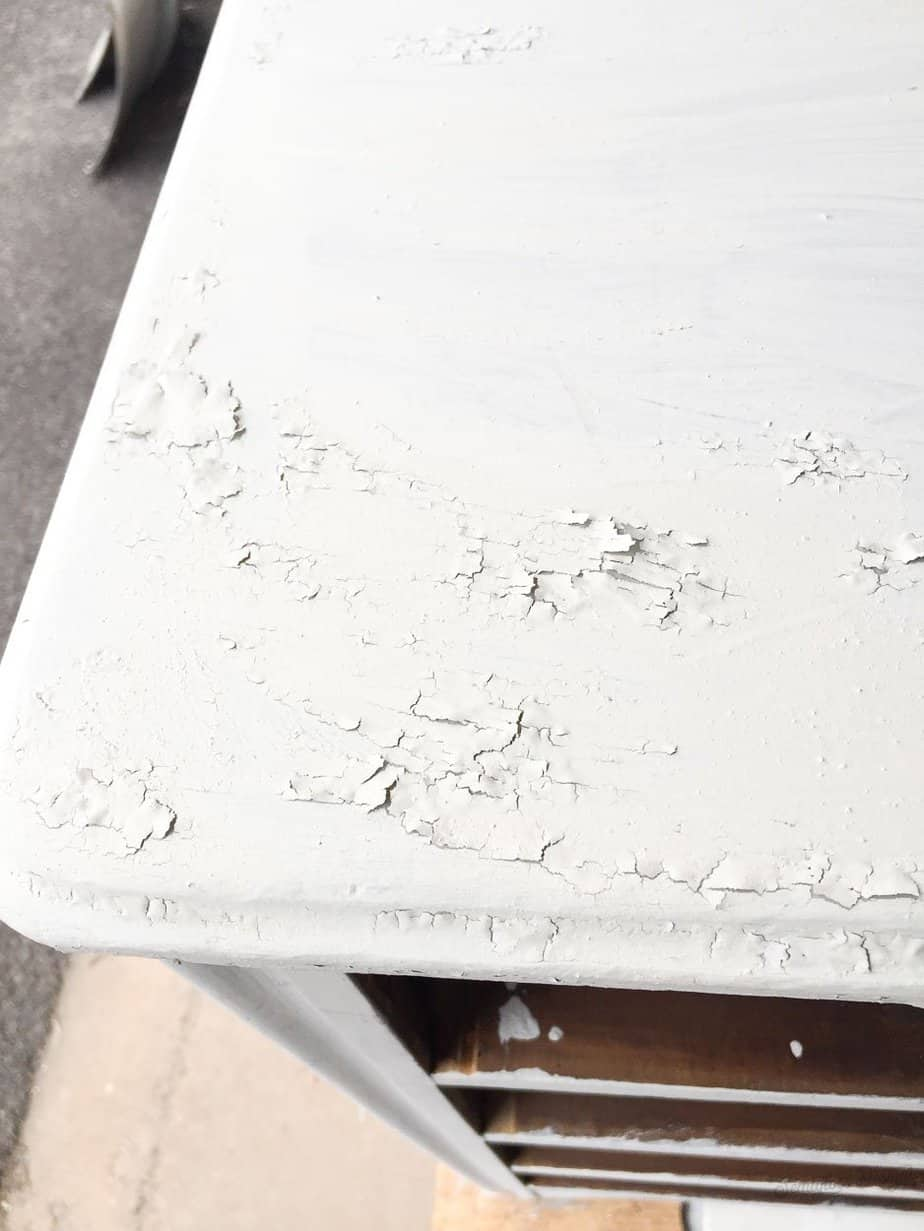 milk paint chipping