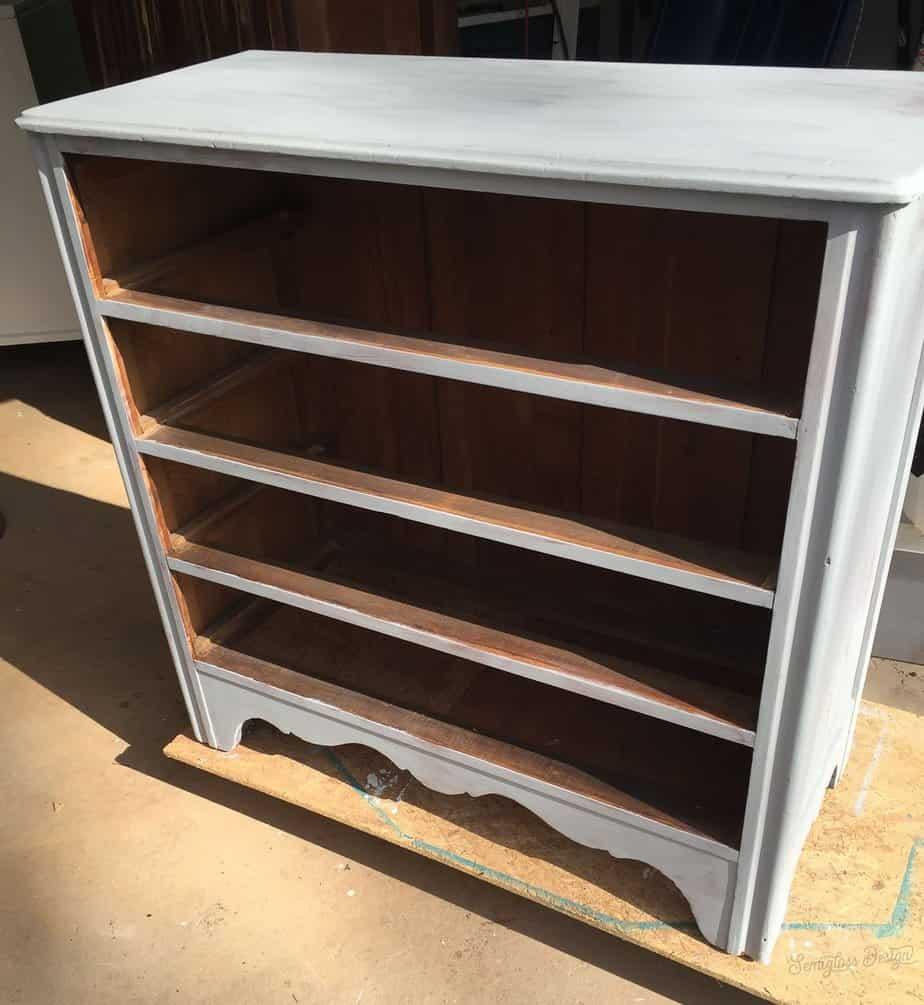 dresser painted light gray