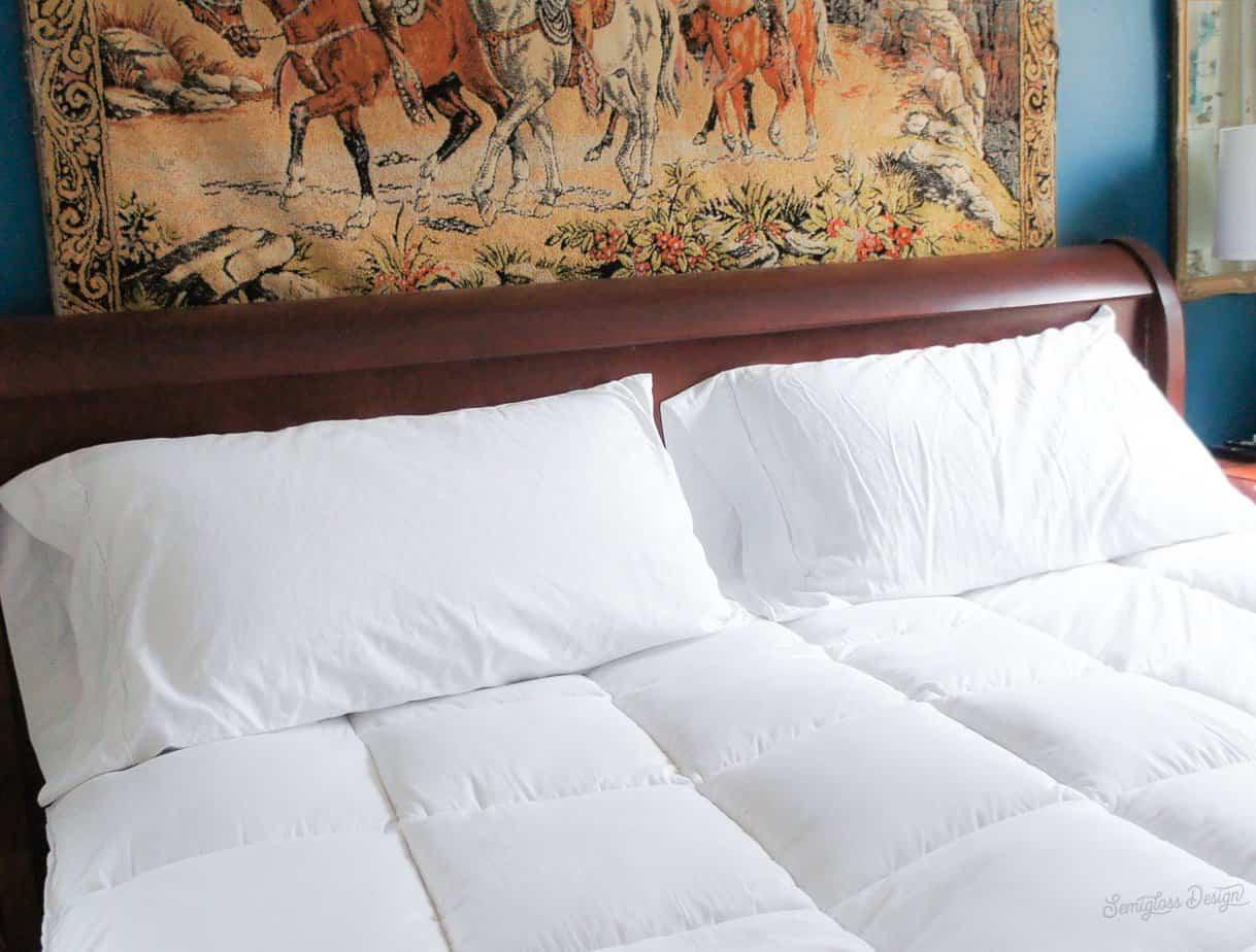 mattress topper on a bed