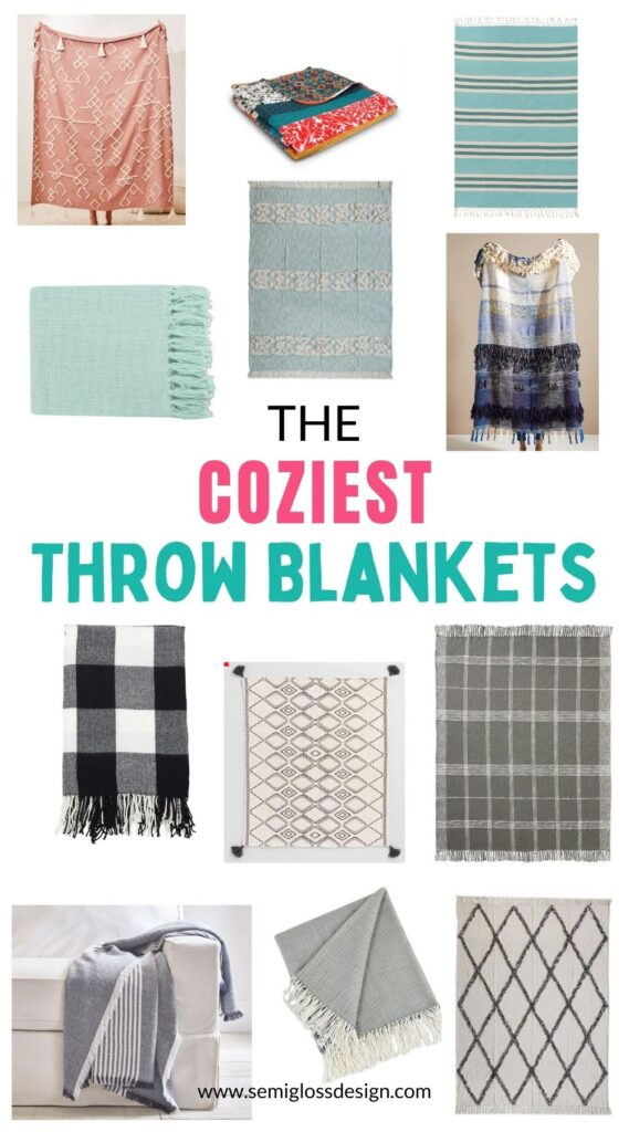 pin image - cozy throw blankets
