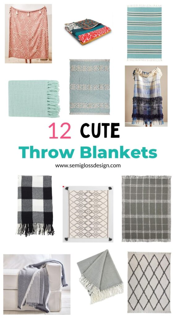 pin image - throw blanket collage