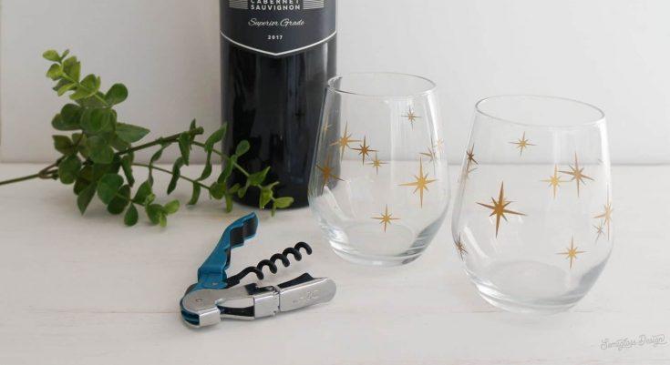 DIY Retro Wine Glasses