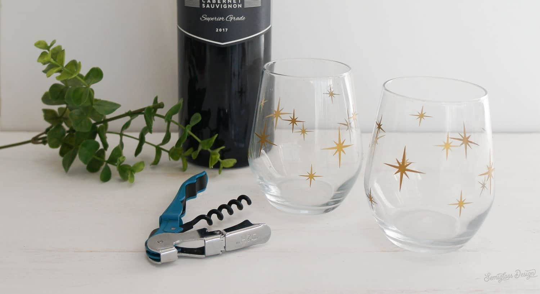starburst wine glasses