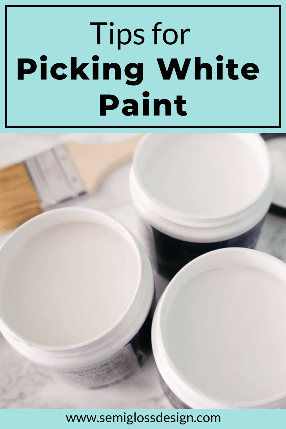 How to choose white paint