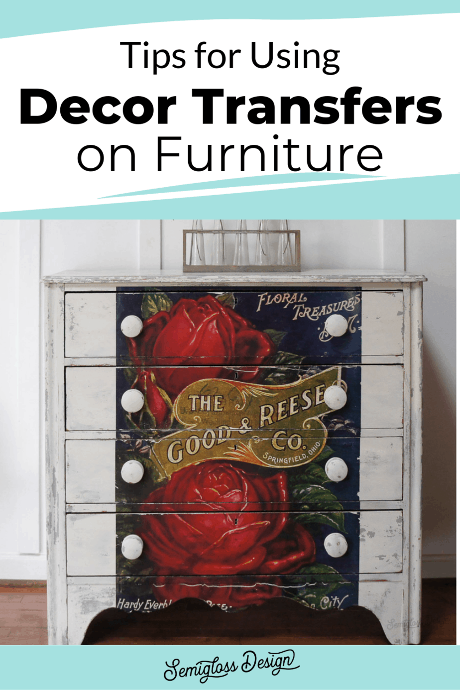 tips for using decor transfers on furniture
