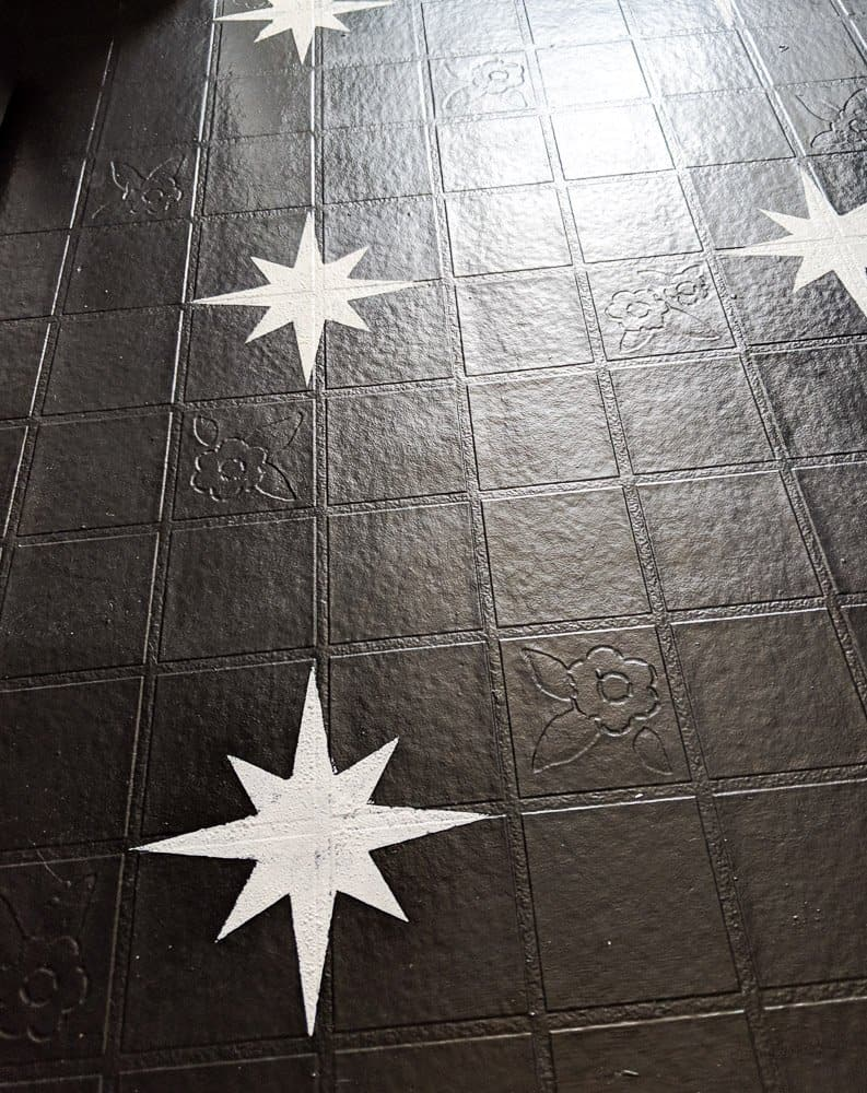 starbrust stencil floor