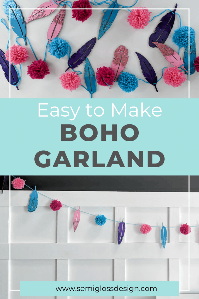 Easy Boho Decor Diy Garland With Glitter Dipped Feathers