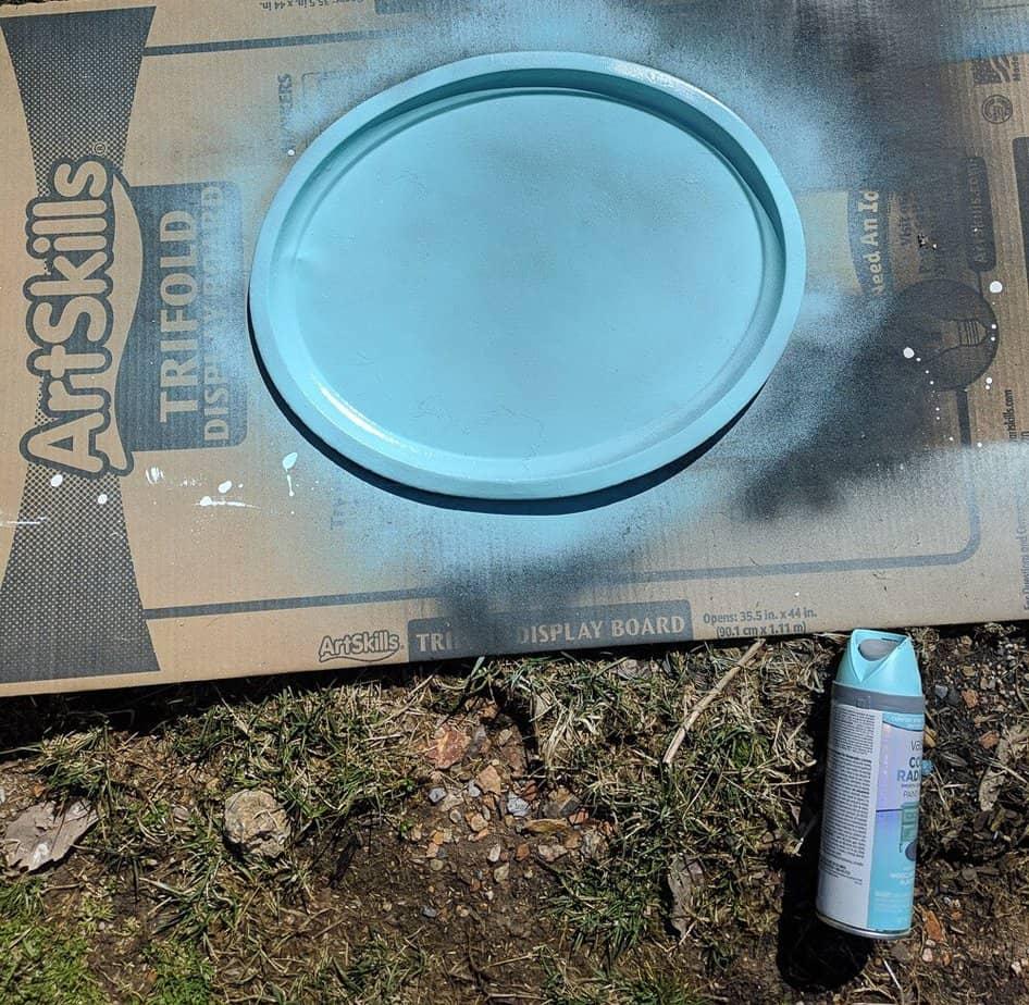 spray paint tray
