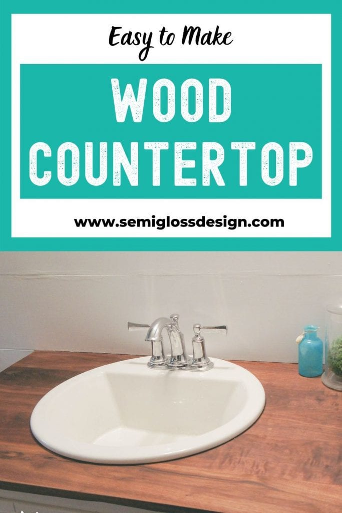 wood countertop collage