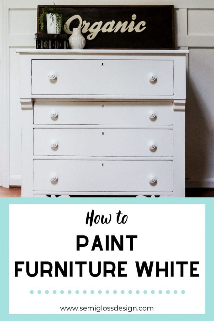 pin image - how to paint furniture white