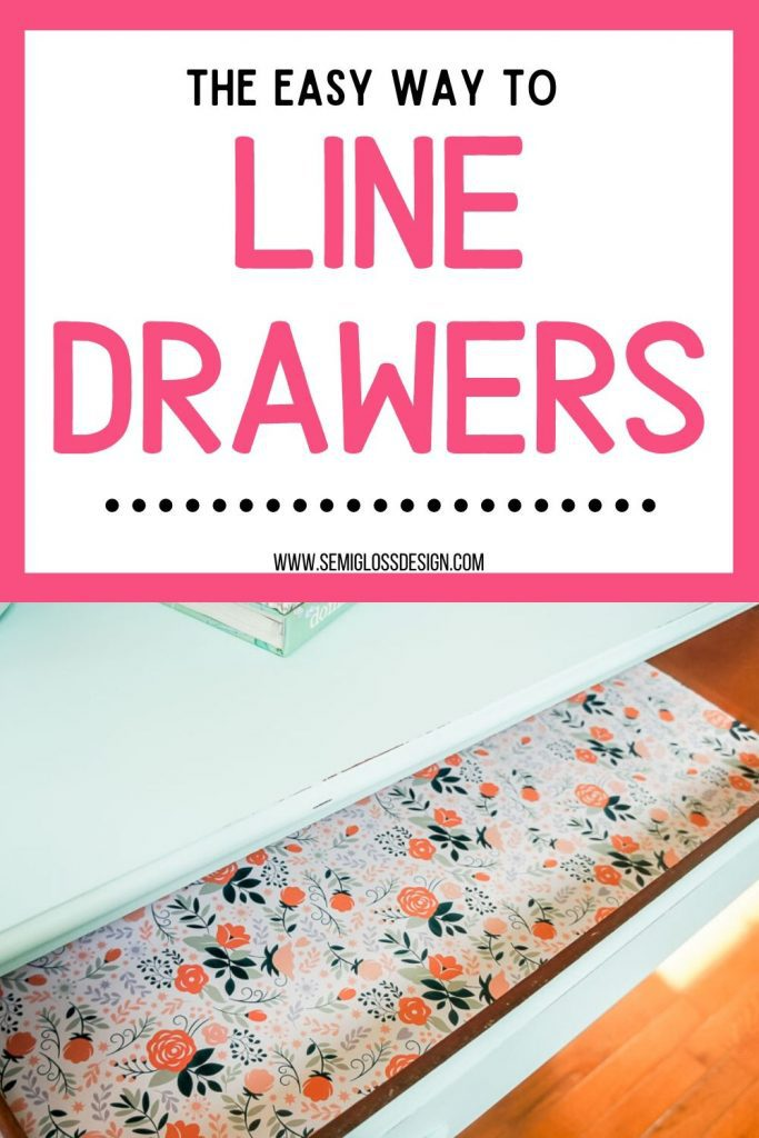 line drawers with paper collage