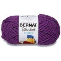 Bernat Blanket Bright Yarn, Pow Purple