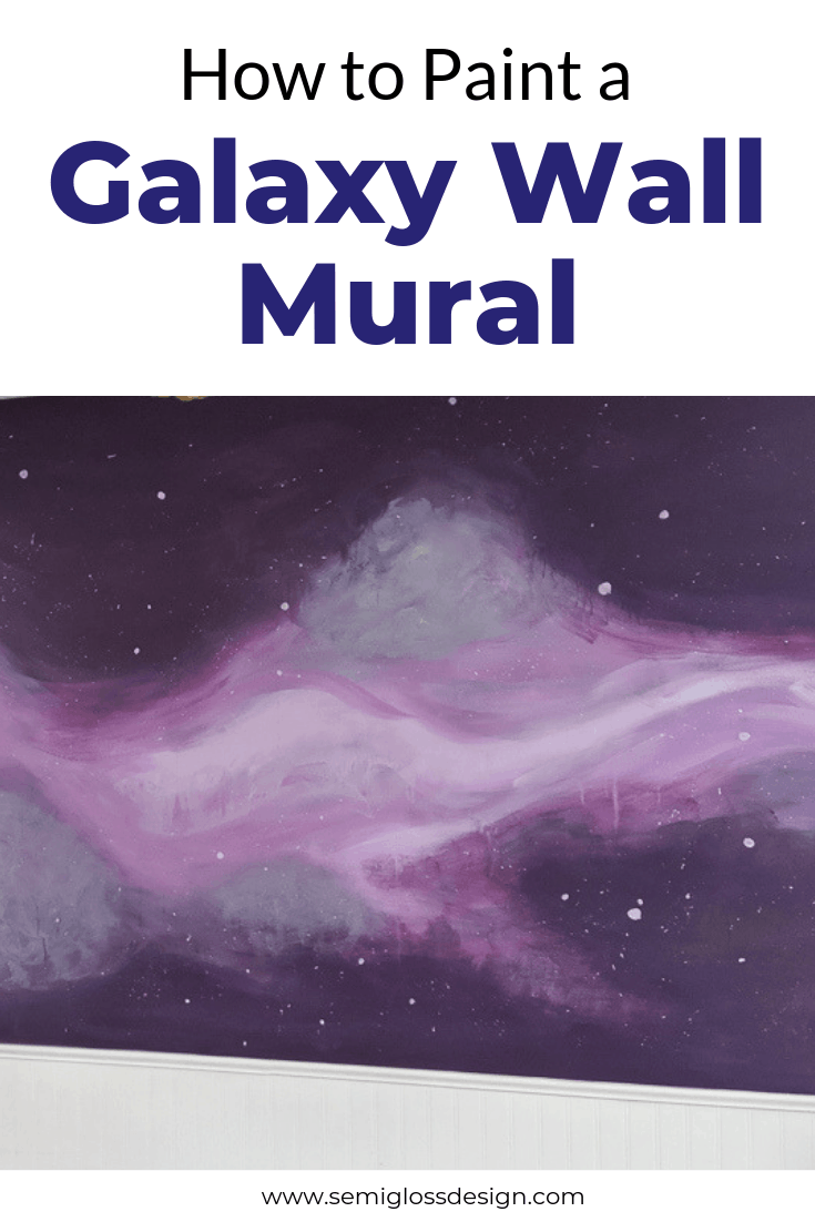 DIY galaxy wall mural