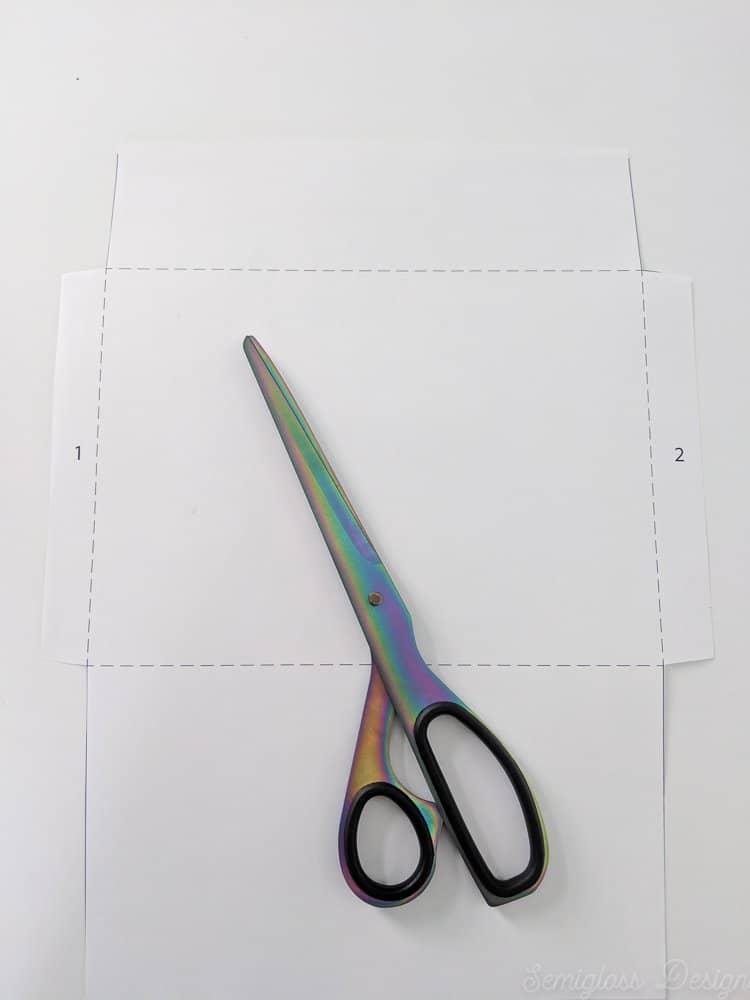 envelope template cut on markings