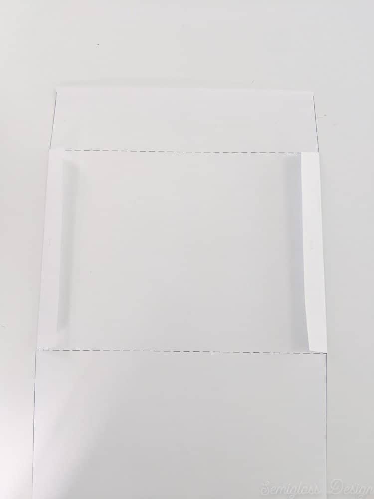 sides folded on envelope template