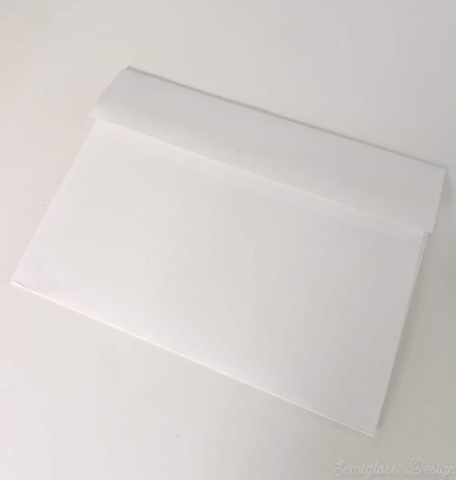 diy envelope from sheet of paper and template