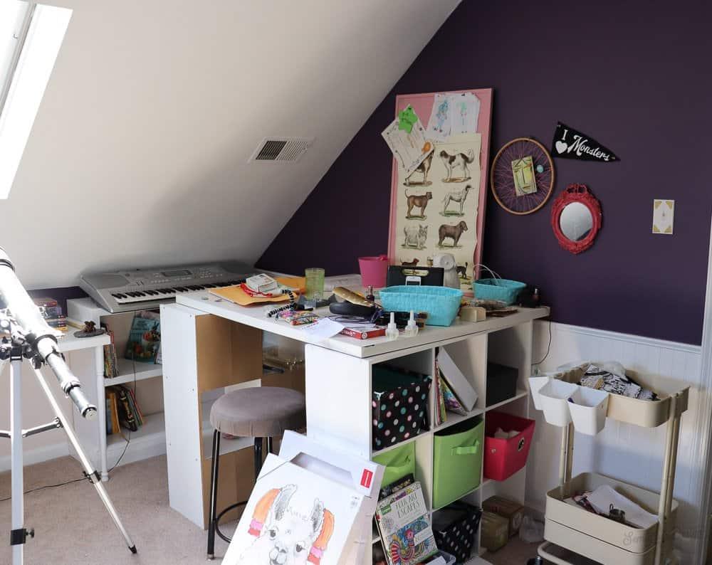 bedroom before desk area