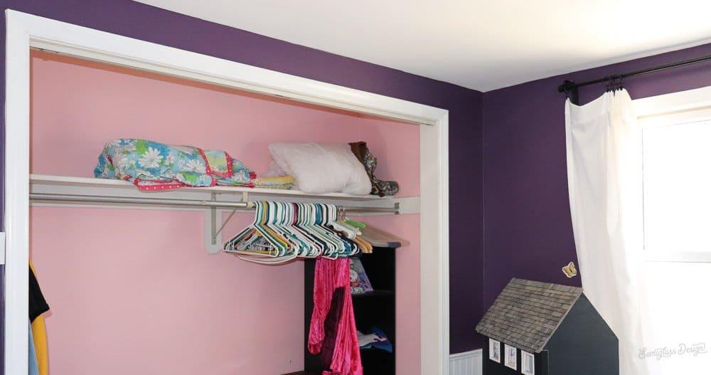bedroom before, closet