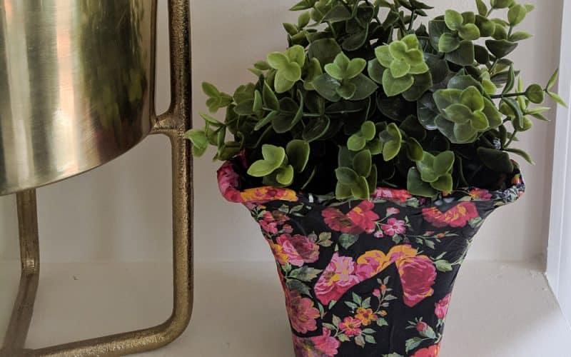 floral flower pot