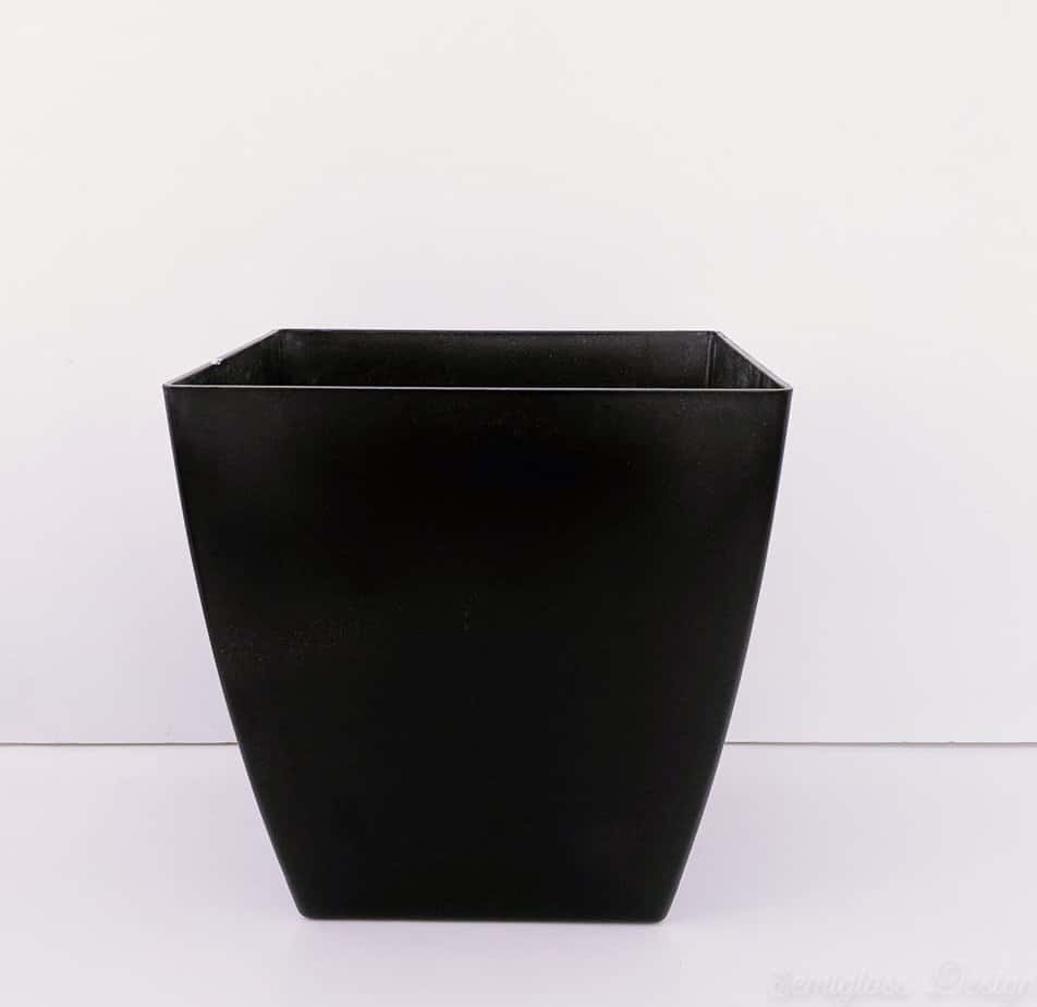 black spray painted planter
