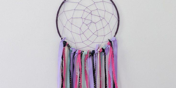 purple and pink dream catcher