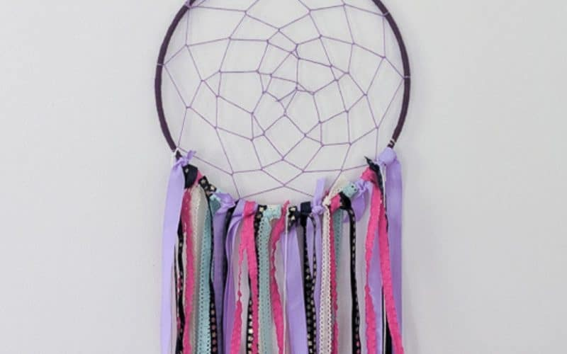 purple and pink dream catcher