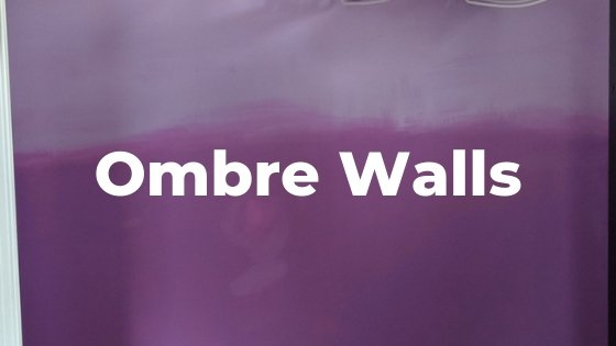 purple ombre walls