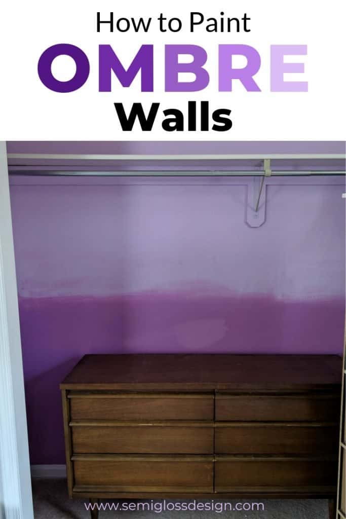 Learn how to paint ombre walls