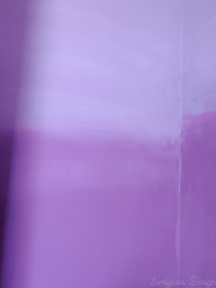 blended ombre accent wall in closet