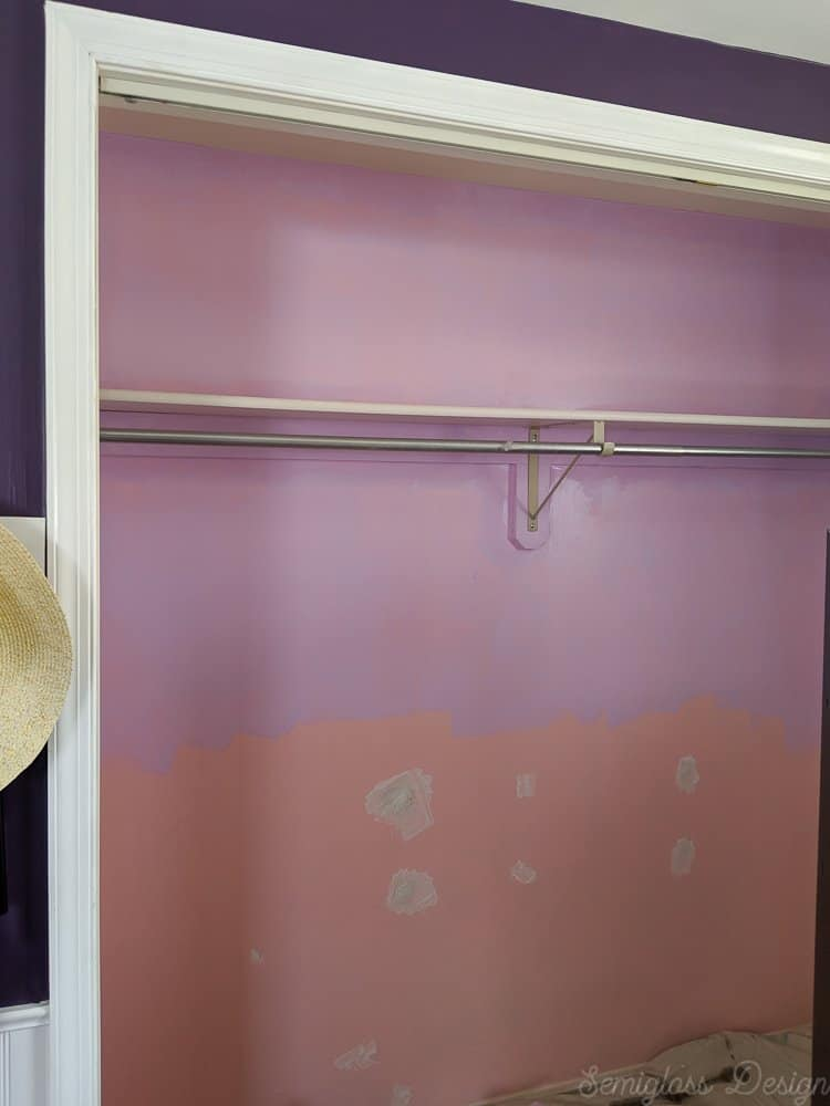 lavender on top of purple ombre walls