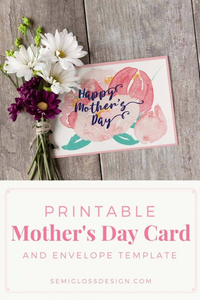 free printable mother's day card with watercolor peonies