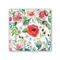 Michel Design Works 20 Count 3-Ply Paper Cocktail Napkins, Wild Berry Blossom