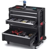 Keter 240762 5 Drawer Modular Garage Tool Organizer, Black