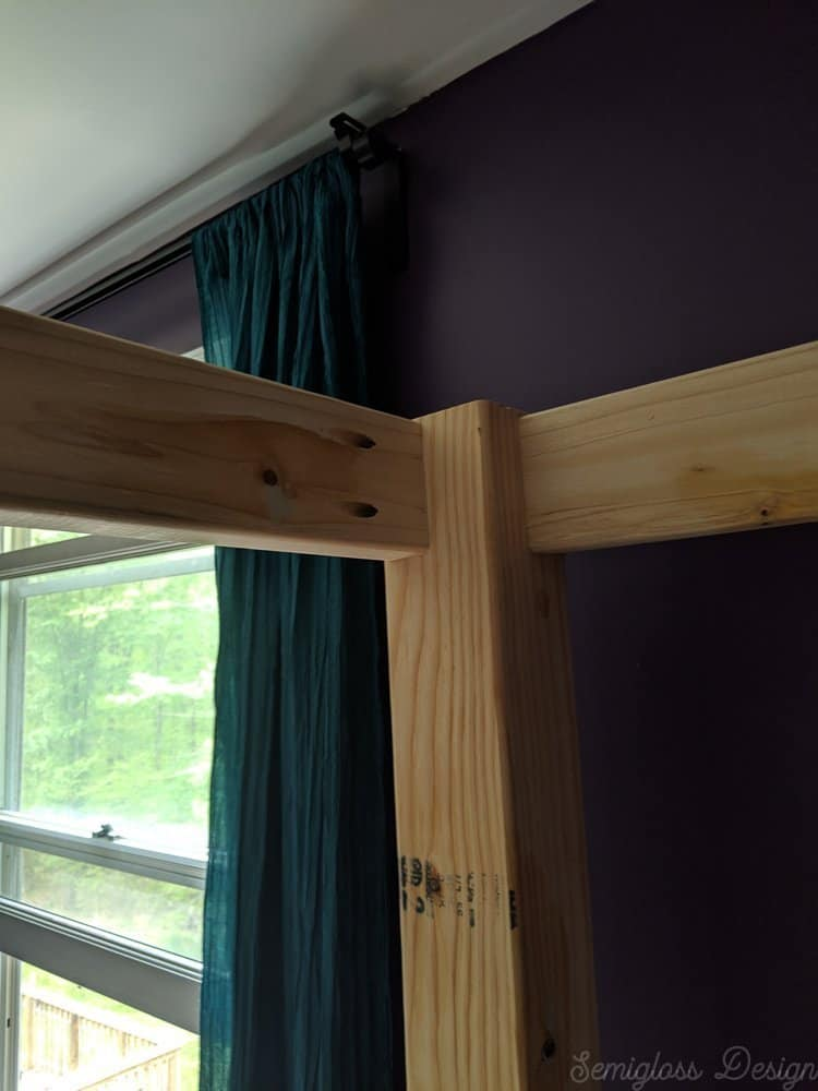 top rails on canopy bed