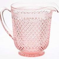 Pitcher - Addison Pattern - Mosser Glass - American Made (Rose Pink)