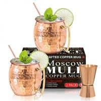 Benicci Moscow Mule Copper Mugs - Set of 2