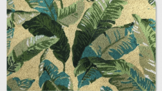 Vacation Tropical Outdoor Doormat Green - Threshold™