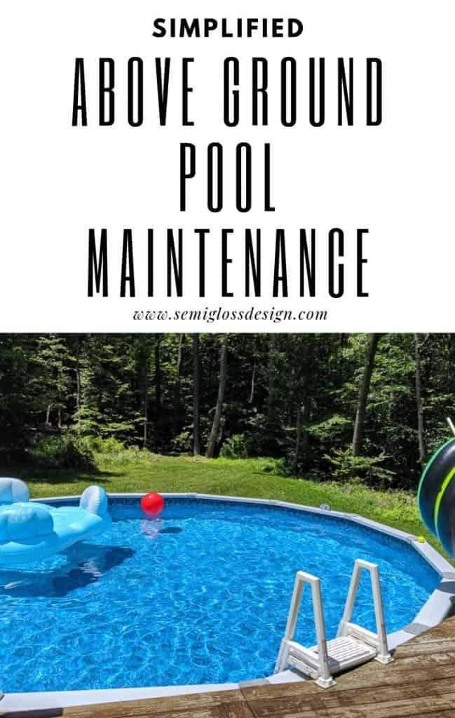 Above ground pool maintenance, simplified