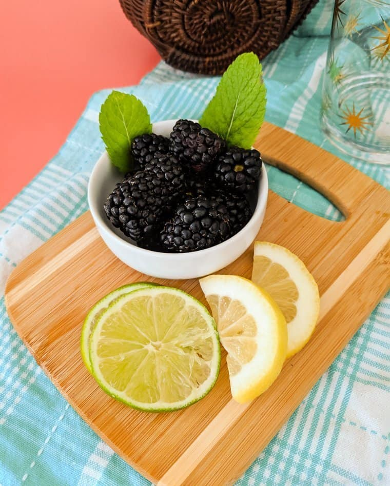 blackberries and limes