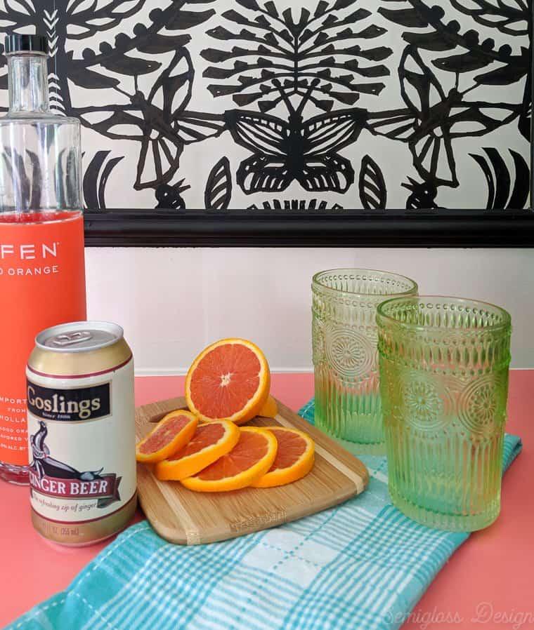 blood orange Moscow mule recipes