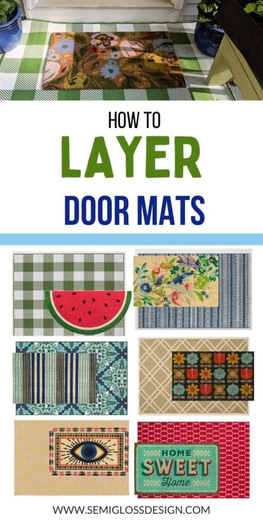 pin image - collage of doormats